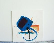 Abstract Painting. Abstract Art. Original Abstract Painting. Acrylic Painting. Modern Art. Urban Tracks Paris 9. Blue.Orange.