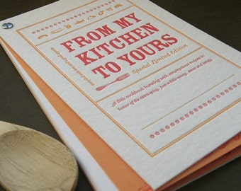 Letterpress the original social media by fullcirclepress for Homemade cookbooks template