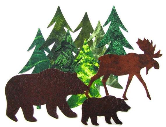 Diecut Northwoods Set Diy Evergreens Bears Moose