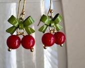 Cherry 14k Gold Plated Earrings