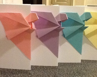 Origami Angels to Watch Over Me Greeting Cards