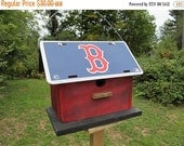 Play Ball Boston Red Sox Primitive License Plate Birdhouse