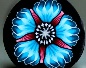 Blue Polymer Clay Flower Cane - 'Wonderland' (47D)