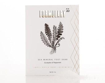 SALE - Sea Salt Foot Soak with Eucalyptus and Peppermint Essential Oils
