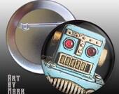 Cool Retro Robot Button