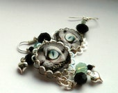Cheshire Cat Crystal Earrings
