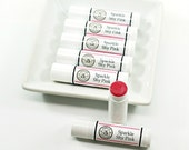 Pink Lip Tint | Vegan Lip Balm, Tinted Lip Balm, Bachelorette Party Favor, Lip Balm Favor, Pink Party Favor | Sparkle Shy Pink Lip Balm