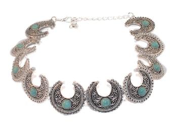 Bohomoon Collar Choker Necklace,Boho,Bohemian,Gothic,Goth,Rock,Rocker