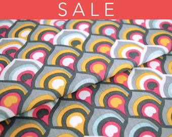 SALE - Affinity print in pink from the Affinity Collection by Jessica Swift for Blend Fabrics - fabric by the half yard