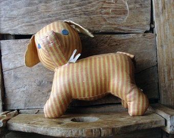 Vintage Striped Toy Dog