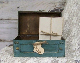 Wedding Advice Box with Note Paper, Small Card Box, Wishes Box, Note Box, Wedding Decor
