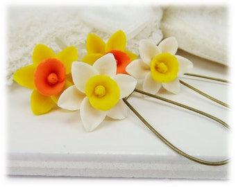 Daffodil Lightweight Drop Earrings or Dangle Earrings Style