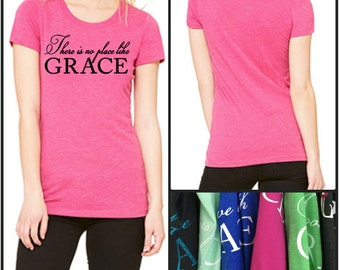 GraceWear T-Shirt with Customized Text and Colors