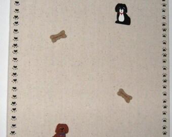 Dog Bulletin Board, Dog Memo Board, Dog Memory Board, Dog Message Board, Dog Push Pins, Office Memo Board, Kitchen Memo Board, Free Shipping