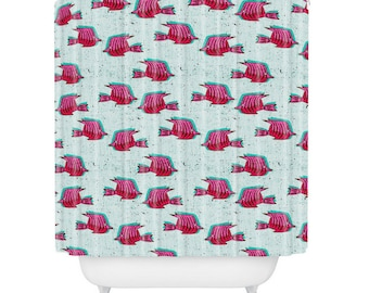 Folka Angelfish Shower Curtain