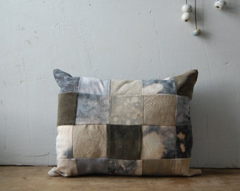 FOLK hand-dyed patchwork cushion with kapok no. 2