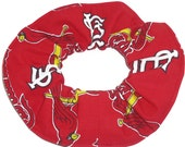 St Louis Cardinals Hair Scrunchie MLB Baseball Scrunchies by Sherry Red Cotton Fabric