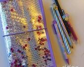 Last one!!! Snake Skin fabric Holographic DIDORI TRAVELER'S NOTEBOOK fauxdori
