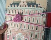 ACRYLIC BAND (glitter pink heart) elastic closure for Hobonichi, fauxbonichi cover