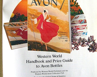 Avon Collectibles Book, 1981 Edition, Price Guide, Red Cover Hardback, Western World Publishers, 288 Pages, Color Photos, Reference Book