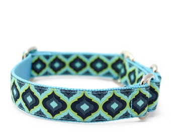 "1"" Dog Collar Royals buckle or martingale collar"