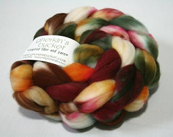 hand dyed fiber - SW Merino fiber - Geek Is the Color For Fall colorway (dyelot 92216)