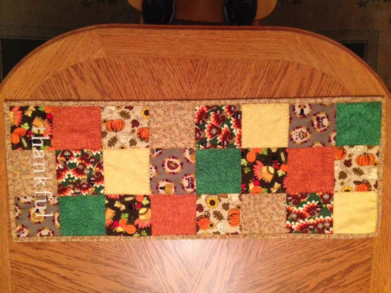 Thanksgiving patchwork table runners thanksgiving wikii for 102 table runners