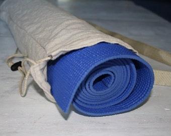 Silver Pinstripe Yoga Mat Bag