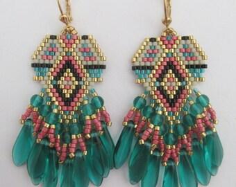 Beaded Fringe Earrings - COPYRIGHT 2014 - Patti Ann McAlister