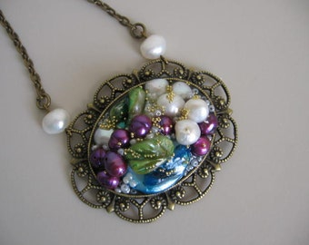 Collage Pearl Pendant