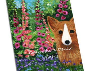 Corgi Art Pembroke Welsh Corgi Art Corgi in Monet's Garden corgi lover corgi gift corgi decor corgi print corgi artwork corgi art print