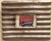 Polaroid transfer - framed original Buick in vintage recycled frame