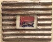 Polaroid transfer - framed original Buick in vintage recycled frame