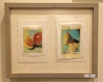 Polaroid (fuji) transfers - framed original Apples and Pears