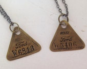 Vintage Jewelry Machine Tags Ford Factory Rouge Recycled Upcycled Jewelry Steampunk.