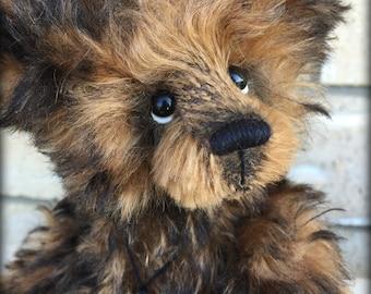 "Lucas artist teddy bear kid mohair KIT - 10"" tall when finished"