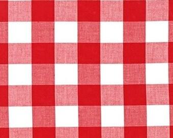 "Plaid Fabric, Apparel Fabric, DIY Plaid Blanket Scarf, Carolina Gingham Fabric by Robert Kaufman, Buffalo Plaid, Plaid Scarf, 1""Gingham"