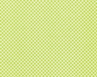 Christmas Fabric, Quilting Fabric by Ann Kelle and Fabric Shoppe, Remix Crosshatch in Lime. You Choose the Cut. Free Shipping Available