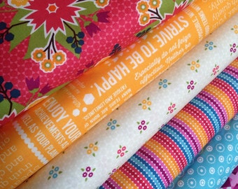 Meadow Bloom fabric bundle by April Rosenthal for Moda Fabrics - Bundle of 6 fabrics. You Choose the Cut. Free Shipping Available
