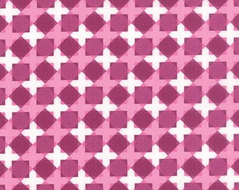 Meadow Bloom fabric by April Rosenthal for Moda Fabrics - Meadow Bloom Geo Flower in Purple. You Choose the Cut. Free Shipping Available