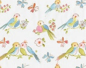 Leanika by Dena Designs for Free Spirit Fabrics Love Birds Fabric By The Half Yard OOP RARE Destash