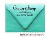 Custom Rubber Stamp, Personalized Stamp, Logo Stamp, Company Stamp, Business Stamp, Custom Stamp, Your Business Logo on a Stamp
