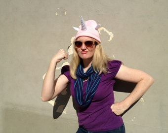 Pink Unicorn Horn Beanie - All Ages Magical Hat