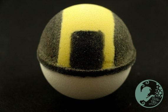 Ultra Ball Bath Bomb with a Pokemon Inside!