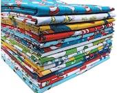 30% Off + Free Ship SALE Robert Kaufman DR. SEUSS Full Yard Bundle 15 Precut Cotton Fabric Quilting Yards Dr Seuss