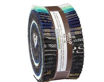 "Robert Kaufman SPARKLE COOL Metallic Roll Up 2.5"" Fabric Quilting Strips Jelly Roll Studio RK ru-491-40"