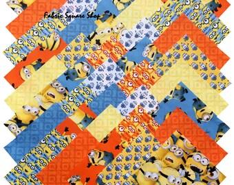 "SQ110 Quilting Treasures DESPICABLE ME MINIONS Precut 5"" Fabric Quilting Cotton Squares"