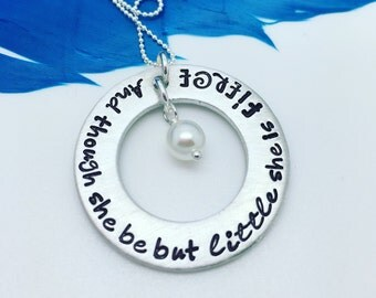 Mother's Personalized Necklace - Personalized Washer Necklace - hand stamped custom washer necklace - little fierce - custom jewelry
