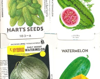 22 Vintage FLOWER / VEGETABLE Unfolded Vegetable Seed Packs