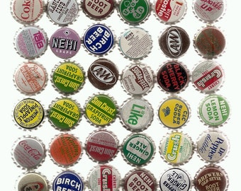 80 Unused Old SODA ,CORKS, BOTTLECAPS Collection